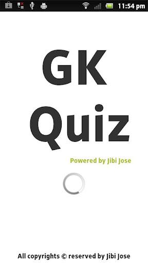 GK Quiz Game