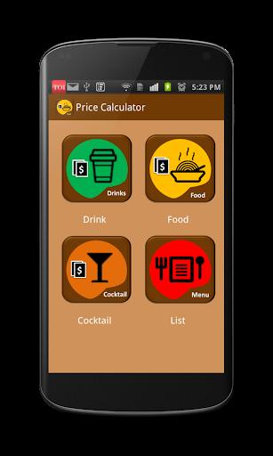 Food Drinks Price Calculator