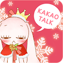 Pink Rabbit Winter - Kakaotalk icon