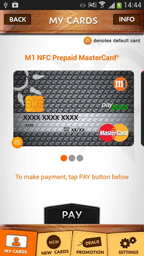 M1 Mobile Wallet - screenshot