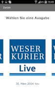 Screenshot of WESER-KURIER Live