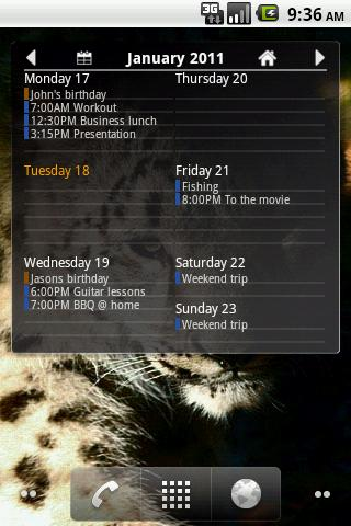 Agenda Widget Ultimate - screenshot