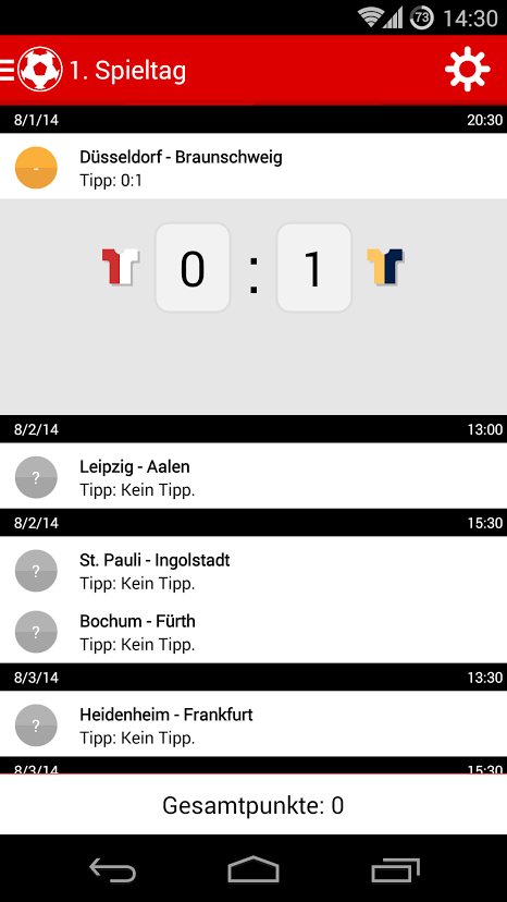 Liga 2 Tippspiel- screenshot