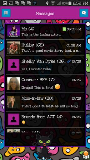 GO SMS THEME - SCS308