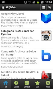 Aplicaciones android- screenshot thumbnail
