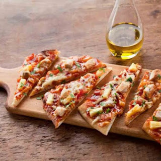 BBQ Chicken Naan Pizza bites