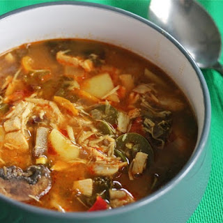 Slow-Cooker Red Curry Soup With Chicken and Kale