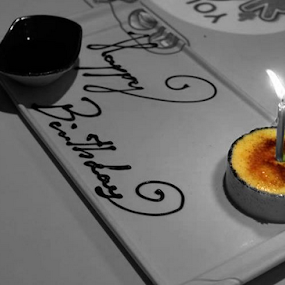 Creme Brulee by Leanne Oosthuizen - Food & Drink Candy & Dessert ( birthday, london, creme, pudding, food, bw, inamo, restaurant, brulee )