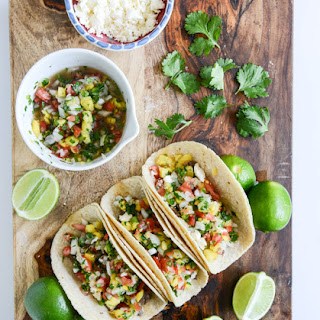 Ginger Garlic Steak Tacos with Pineapple Pico de Gallo.