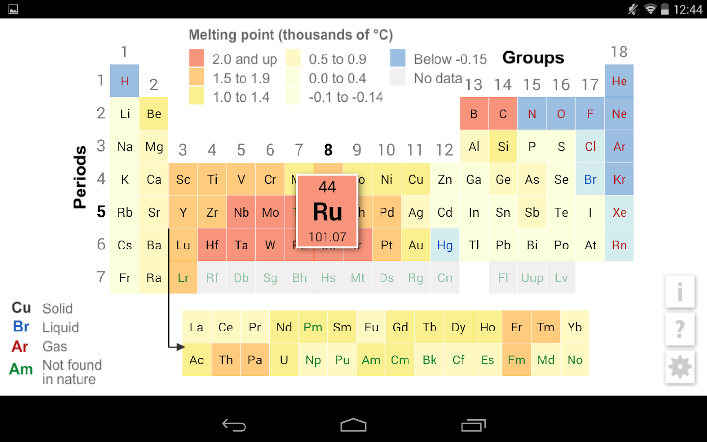 K12 periodic table android apps on google play k12 periodic table screenshot gamestrikefo Image collections