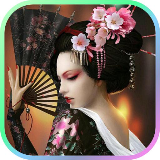 Geisha Doll Live Wallpaper LOGO-APP點子