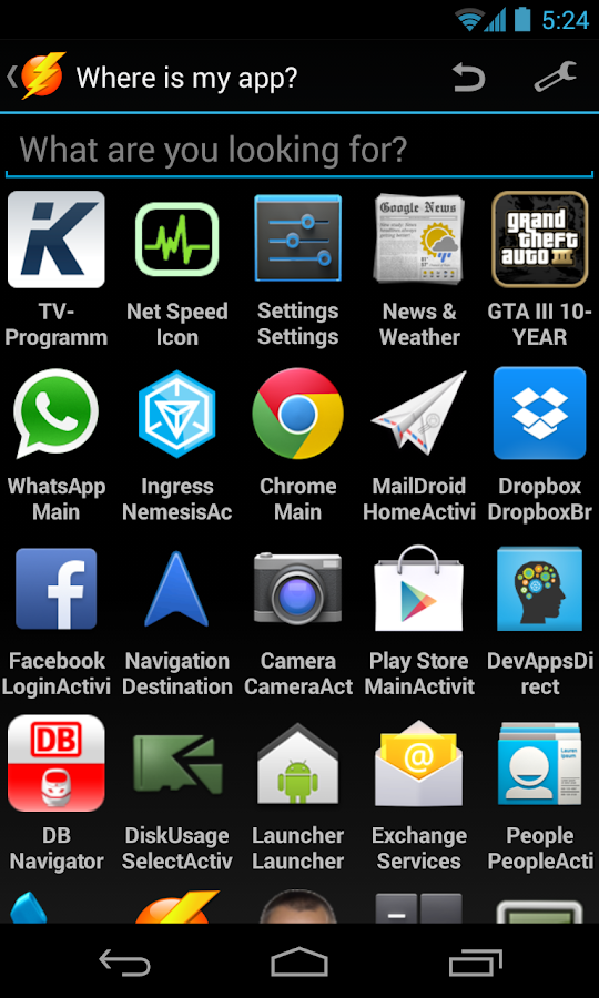 Where is my app? - screenshot