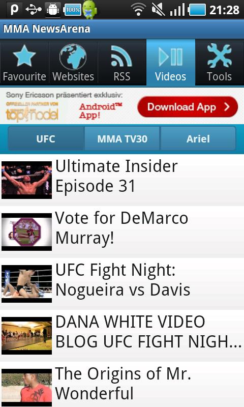 MMA NewsArena- screenshot