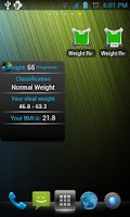 Screenshot of Weight Recorder BMI free