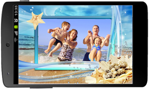 Summer Beach Photo Frame