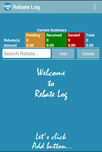 Rebate Log screenshot 0