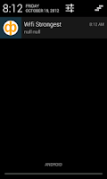 Screenshot of Wifi Strongest signal