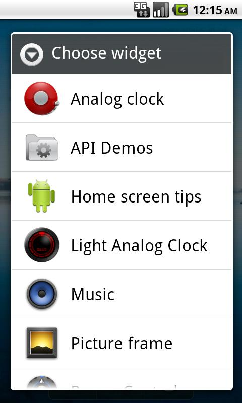 Light Analog Clock- screenshot