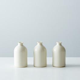 White Bud Vases (Set of 3)