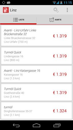 Spritpreis Tanken Österreich