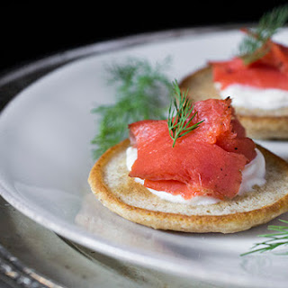 Bilini with Smoked Salmon