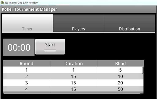 Droid Poker Tournament Manager