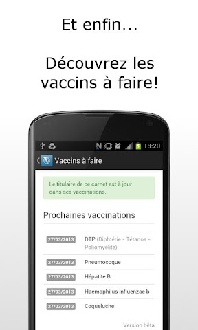 Screenshots for MesVaccins