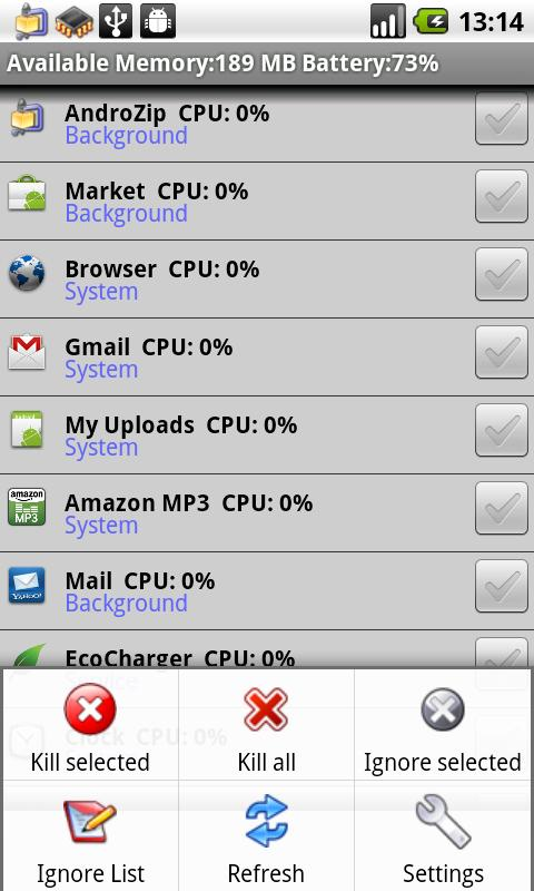 Andro Task Manager - screenshot