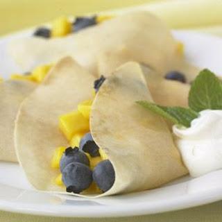 Blueberry-Mango Crepes.