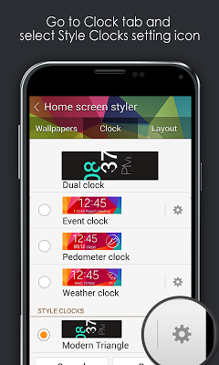 Modern Triangle Clock - screenshot