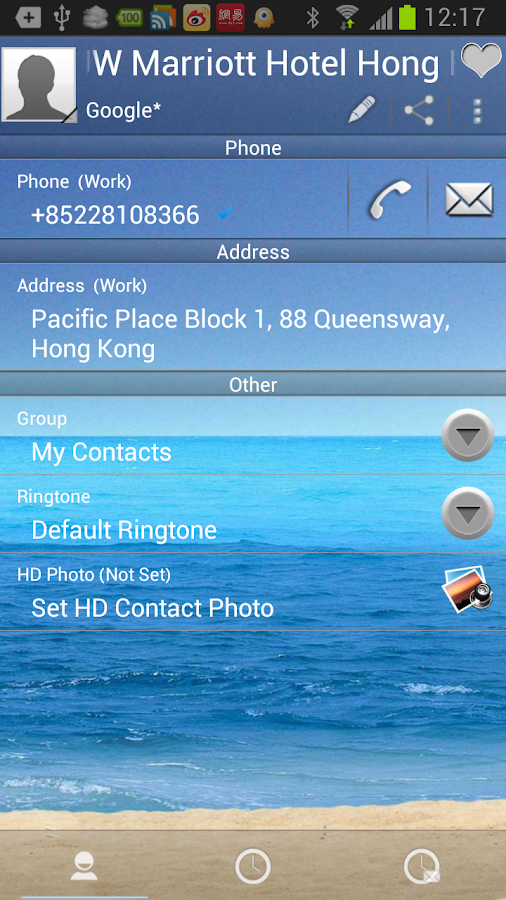 RocketDial SeaShore Theme (HD) - screenshot
