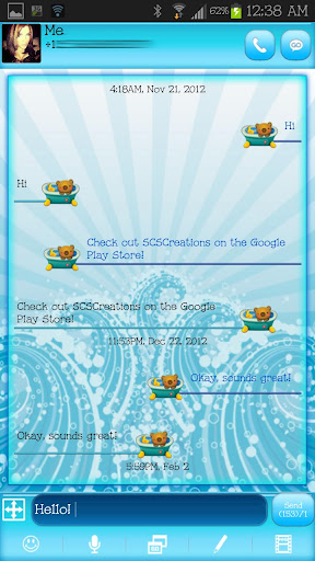 GO SMS - Cutie Bear