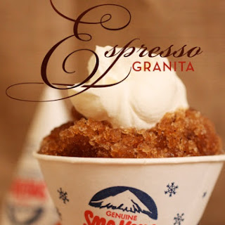 Espresso Granita with Whipped Cream