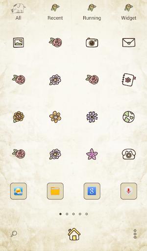 玩個人化App|아기코끼리 코코(flower crown) 도돌런처 테마免費|APP試玩