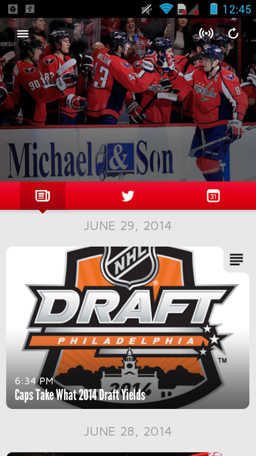 Washington Capitals - screenshot