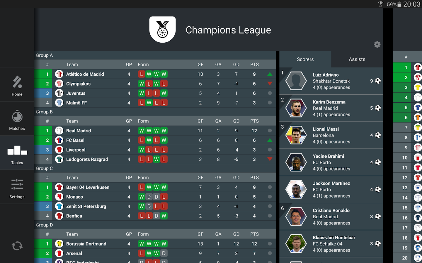 KICK - Football Scores & Stats - screenshot