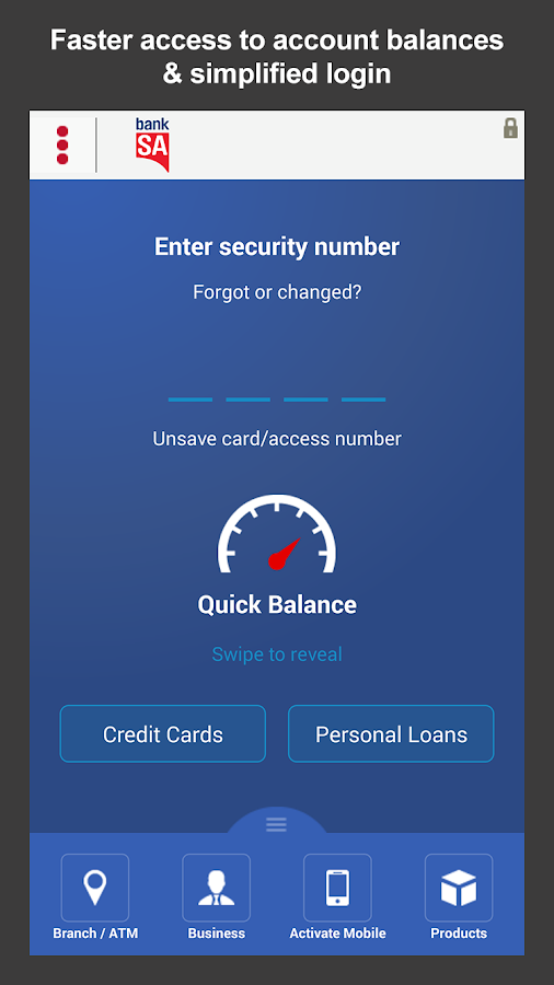 BankSA Mobile Banking - screenshot