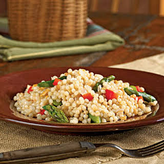 Israeli Couscous with Asparagus.