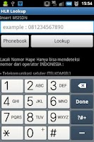 Screenshot of Lacak Nomor Telepon HLR Lookup