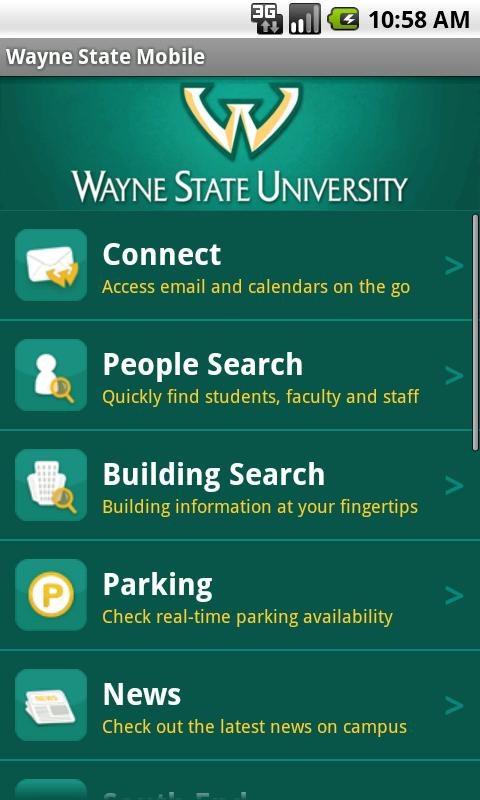Wayne State Mobile - screenshot