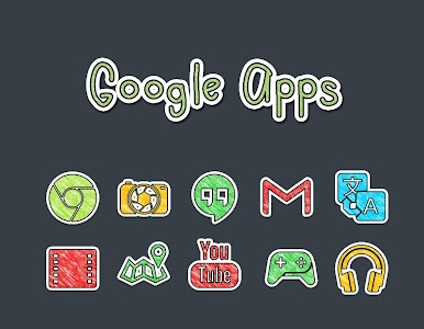 Doodle Stickers Icon Pack v2.0