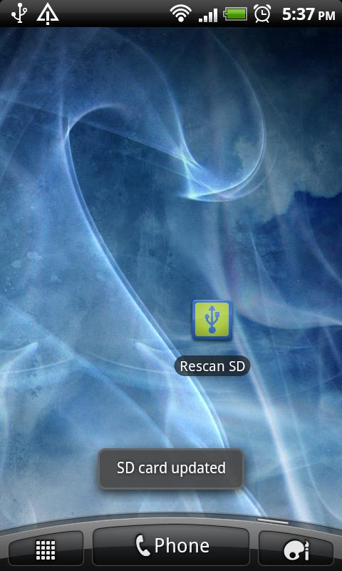 Rescan SD Card! - screenshot