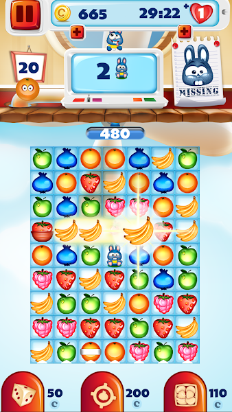 Fruit Pop Match 3 Puzzle Games v2.0 [Mod]
