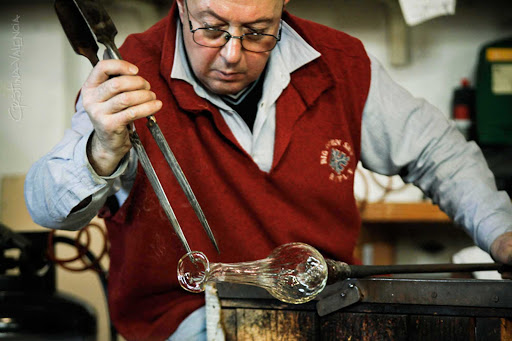 Craftsman in Murano, Venice, which has a centuries-old tradition of exquisite glass-making.