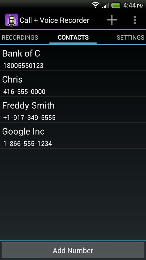 Call Voice Recorder- screenshot