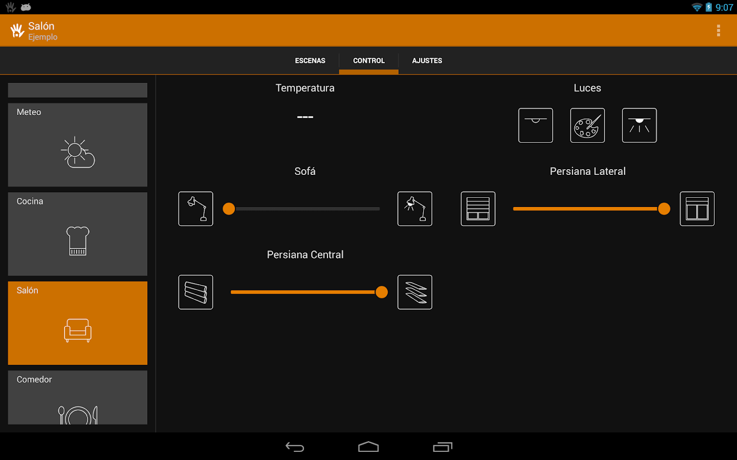 Houseinhand KNX: captura de pantalla