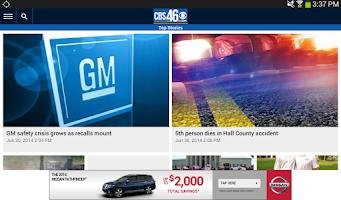 Screenshot of CBS46 Mobile