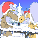 Christmas Caroling Horses logo