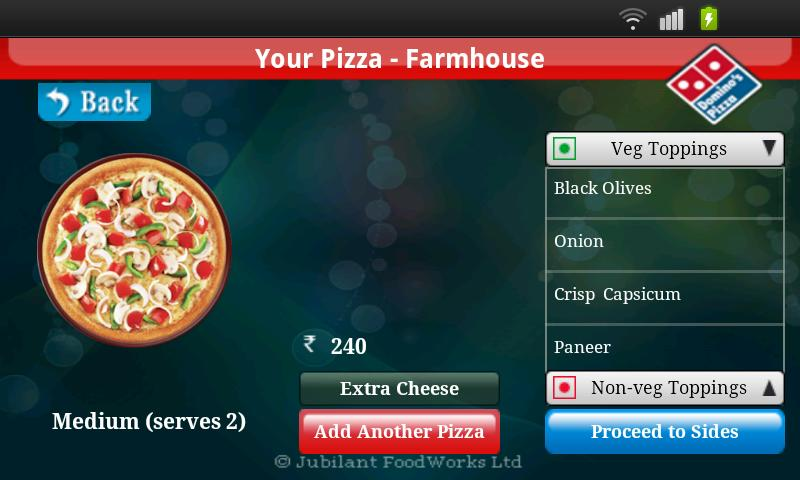 Domino's Pizza India - screenshot