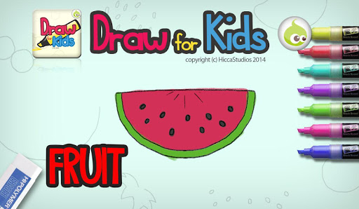 Draw for Kids Fruit
